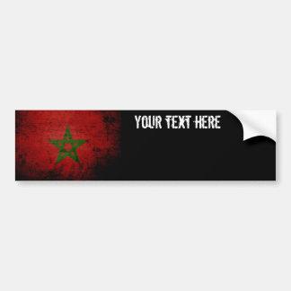 Schwarze Schmutz-Marokko-Flagge Autoaufkleber
