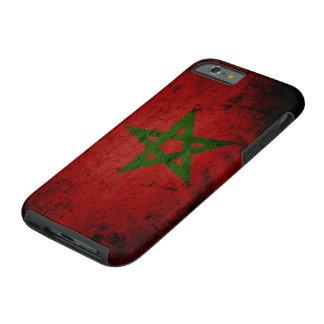 Schwarze Schmutz-Marokko-Flagge Tough iPhone 6 Hülle