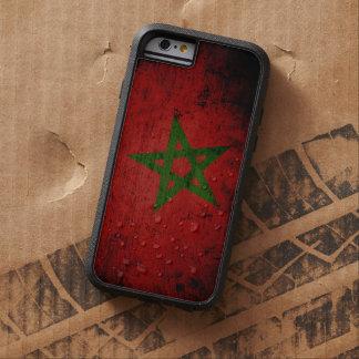 Schwarze Schmutz-Marokko-Flagge Tough Xtreme iPhone 6 Hülle