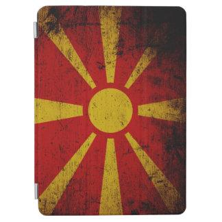 Schwarze Schmutz-Mazedonien-Flagge iPad Air Hülle