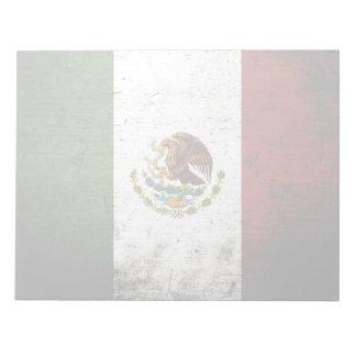 Schwarze Schmutz-Mexiko-Flagge Notizblock