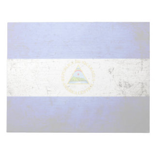 Schwarze Schmutz-Nicaragua-Flagge Notizblock