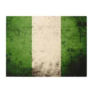 Schwarze Schmutz-Nigeria-Flagge Holzwanddeko