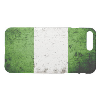 Schwarze Schmutz-Nigeria-Flagge iPhone 8 Plus/7 Plus Hülle