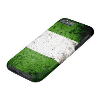 Schwarze Schmutz-Nigeria-Flagge Tough iPhone 6 Hülle