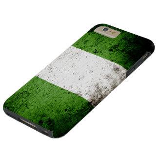 Schwarze Schmutz-Nigeria-Flagge Tough iPhone 6 Plus Hülle