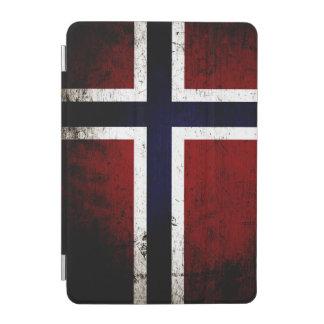 Schwarze Schmutz-Norwegen-Flagge iPad Mini Hülle