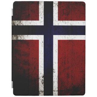 Schwarze Schmutz-Norwegen-Flagge iPad Smart Cover