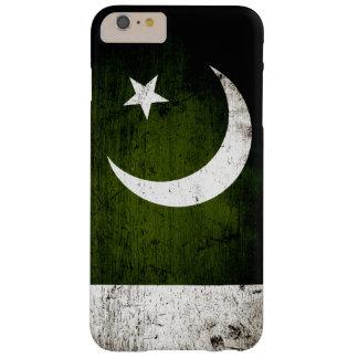 Schwarze Schmutz-Pakistan-Flagge Barely There iPhone 6 Plus Hülle