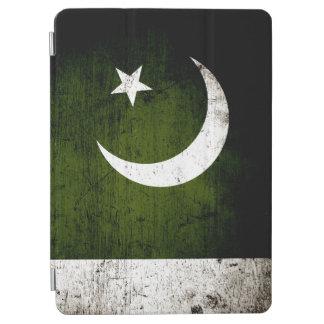 Schwarze Schmutz-Pakistan-Flagge iPad Air Cover