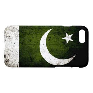 Schwarze Schmutz-Pakistan-Flagge iPhone 8/7 Hülle