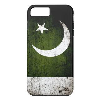 Schwarze Schmutz-Pakistan-Flagge iPhone 8 Plus/7 Plus Hülle