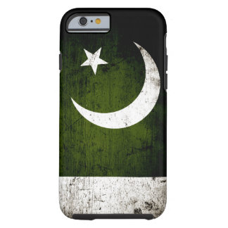 Schwarze Schmutz-Pakistan-Flagge Tough iPhone 6 Hülle