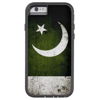 Schwarze Schmutz-Pakistan-Flagge Tough Xtreme iPhone 6 Hülle