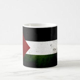 Schwarze Schmutz-Palästina-Flagge Kaffeetasse