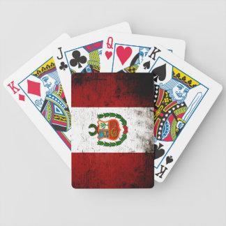 Schwarze Schmutz-Peru-Flagge Bicycle Spielkarten