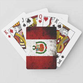 Schwarze Schmutz-Peru-Flagge Spielkarten