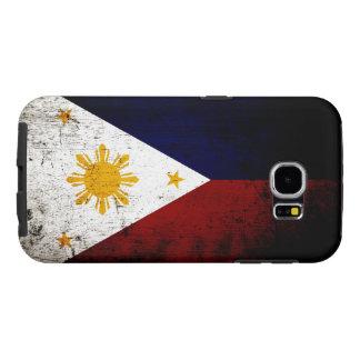 Schwarze Schmutz-Philippinen-Flagge