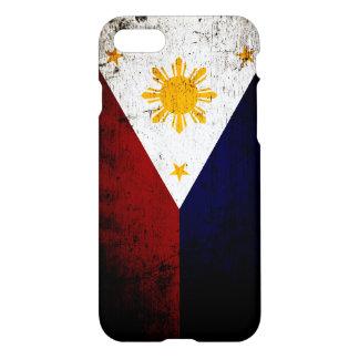 Schwarze Schmutz-Philippinen-Flagge iPhone 8/7 Hülle
