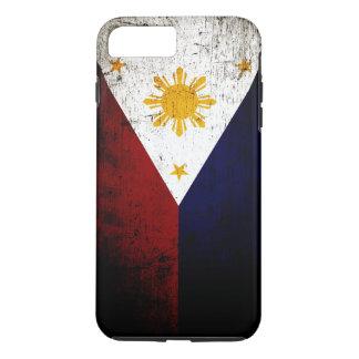 Schwarze Schmutz-Philippinen-Flagge iPhone 8 Plus/7 Plus Hülle