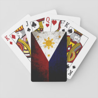 Schwarze Schmutz-Philippinen-Flagge Spielkarten