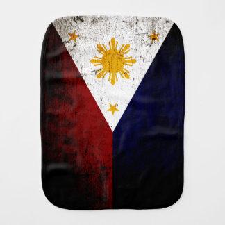 Schwarze Schmutz-Philippinen-Flagge Spucktuch