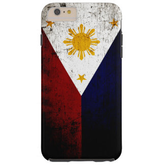 Schwarze Schmutz-Philippinen-Flagge Tough iPhone 6 Plus Hülle