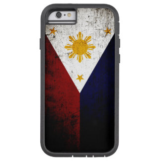 Schwarze Schmutz-Philippinen-Flagge Tough Xtreme iPhone 6 Hülle