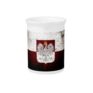 Schwarze Schmutz-Polen-Flagge Getränke Pitcher
