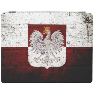 Schwarze Schmutz-Polen-Flagge iPad Hülle