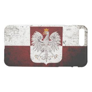 Schwarze Schmutz-Polen-Flagge iPhone 8 Plus/7 Plus Hülle