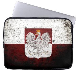 Schwarze Schmutz-Polen-Flagge Laptop Sleeve