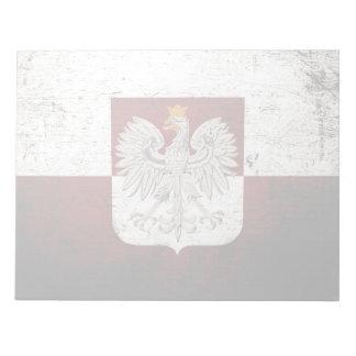 Schwarze Schmutz-Polen-Flagge Notizblock