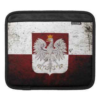 Schwarze Schmutz-Polen-Flagge Sleeve Für iPads