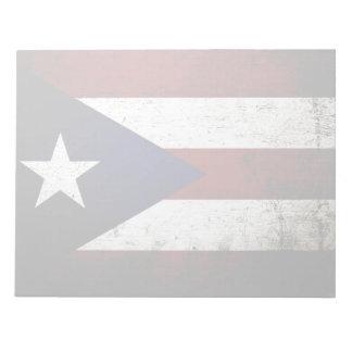 Schwarze Schmutz-Puerto- Ricoflagge Notizblock