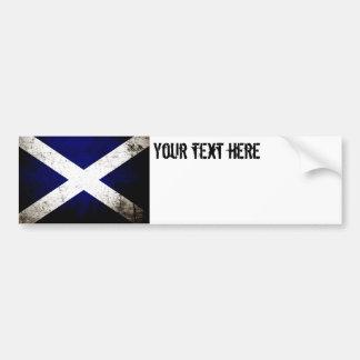 Schwarze Schmutz-Schottland-Flagge Autoaufkleber