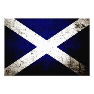 Schwarze Schmutz-Schottland-Flagge Kunstphoto