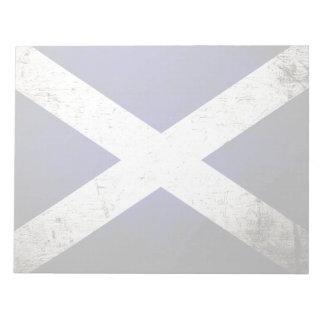 Schwarze Schmutz-Schottland-Flagge Notizblock