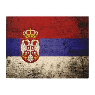 Schwarze Schmutz-Serbien-Flagge Holzwanddeko