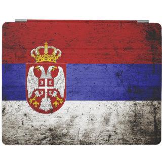 Schwarze Schmutz-Serbien-Flagge iPad Hülle