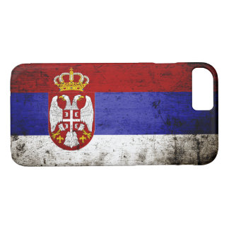 Schwarze Schmutz-Serbien-Flagge iPhone 8/7 Hülle