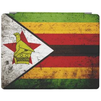Schwarze Schmutz-Simbabwe-Flagge iPad Hülle