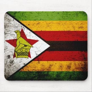 Schwarze Schmutz-Simbabwe-Flagge Mousepads