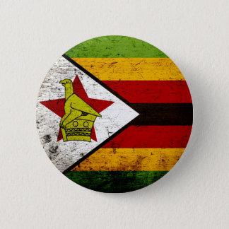 Schwarze Schmutz-Simbabwe-Flagge Runder Button 5,1 Cm