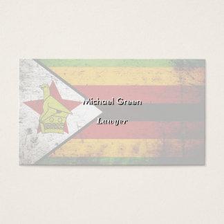 Schwarze Schmutz-Simbabwe-Flagge Visitenkarte