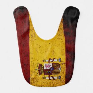 Schwarze Schmutz-Spanien-Flagge Babylätzchen