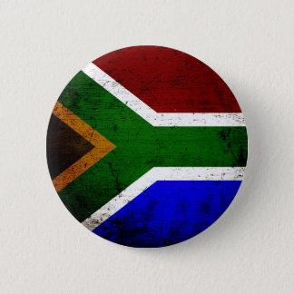 Schwarze Schmutz-Südafrika-Flagge Runder Button 5,7 Cm