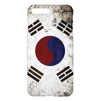 Schwarze Schmutz-Südkorea-Flagge iPhone 8 Plus/7 Plus Hülle