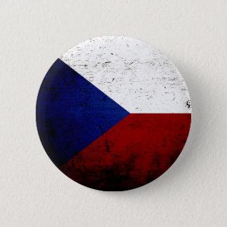 Schwarze Schmutz-Tschechische Republik-Flagge Runder Button 5,1 Cm