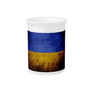 Schwarze Schmutz-Ukraine-Flagge Krug